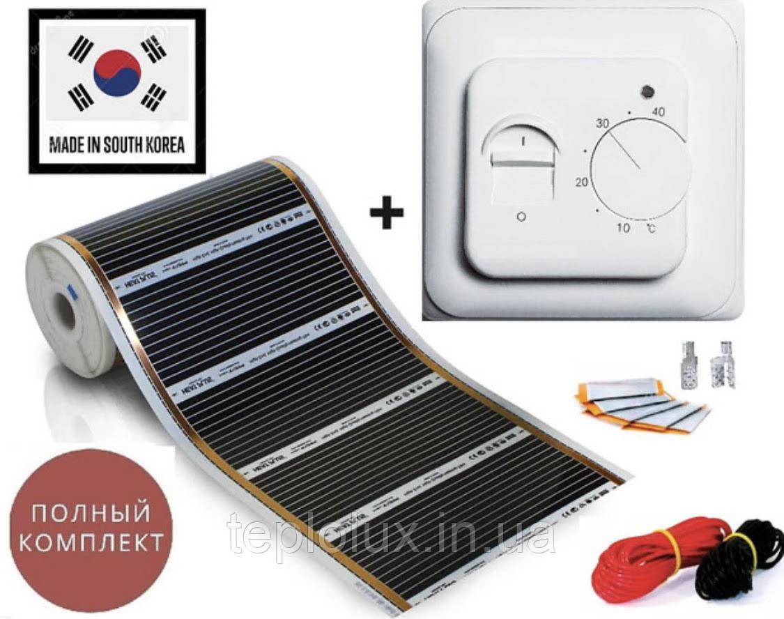 """9м2. Інфрачервона тепла підлога """"RexVa"""" (Корея), комплект з механічним терморегулятором RTC70.26"""
