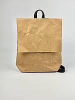 Рюкзак жіночий паперовий непромокальний бежевий KL1x25