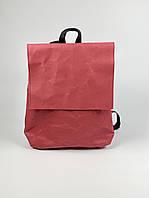 Жіночий рюкзак паперовий крафтовый бордовий KL1x26
