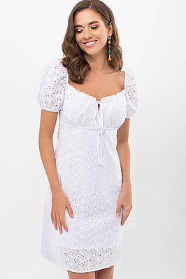 Коротке біле літнє плаття