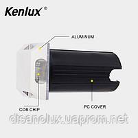 Світильник грунтовий K-2801SQ  2side LED 2W 3000К 220V IP65 розмір 52мм * 82мм, фото 8