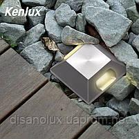 Світильник грунтовий K-2801SQ  2side LED 2W 3000К 220V IP65 розмір 52мм * 82мм, фото 9