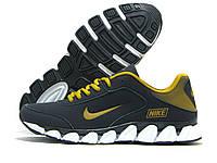 Кроссовки мужские Nike темно-синие с золотым (найк)