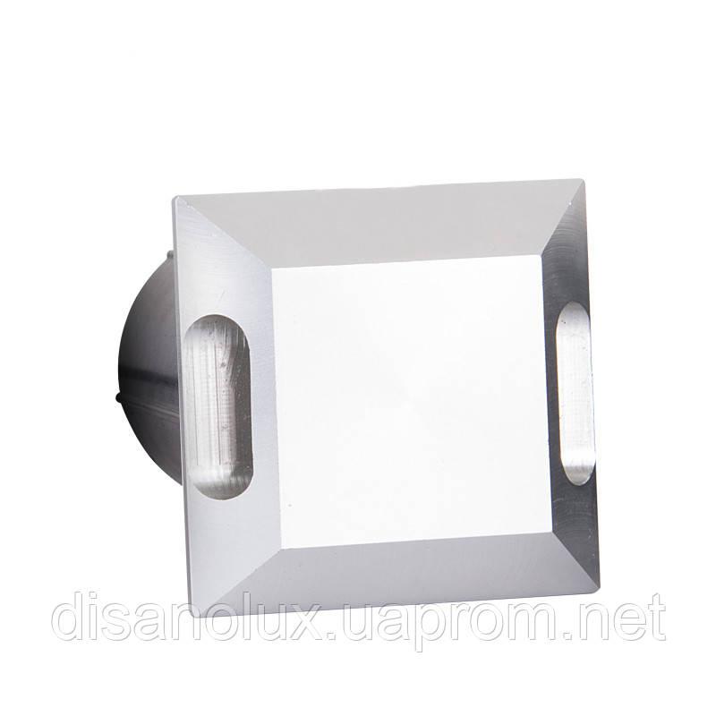 Світильник грунтовий K-2801SQ  2side LED 2W 3000К 220V IP65 розмір 52мм * 82мм