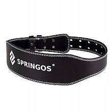 Пояс для тяжелой атлетики и пауэрлифтинга Springos FA0120 L Black