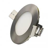 Світильник діодний LI 04 LED 4W R 6000K сатин, фото 1