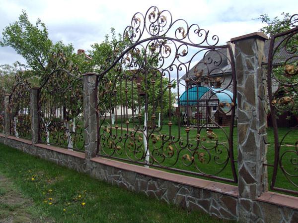 Эскизы кованых заборов и ворот