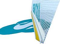 Профиль оконный примыкания 6/3мм с манжетой и сеткой Valmiera (прошитый), фото 1