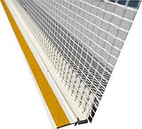 Профіль віконний примикання 9/6мм з манжетою і сіткою Valmiera (прошитий), фото 1