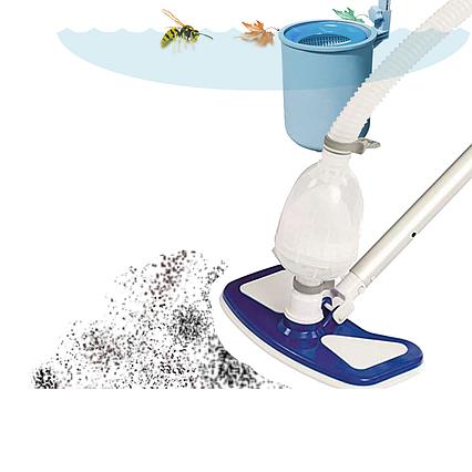 Прибиральний набір для чищення басейну зі скімерів Bestway 58237, пилосос для чищення дна від насоса 3 028 л/год
