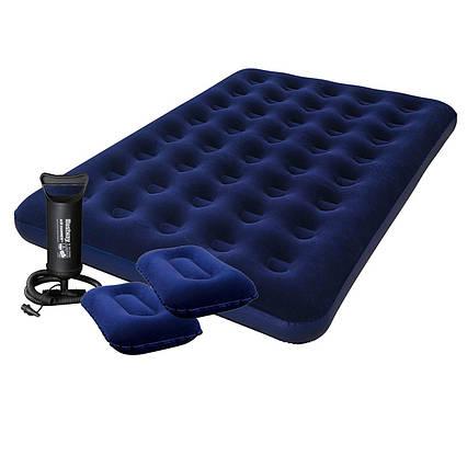 Надувний матрац Pavillo Bestway 67374, 152 х 203 х 22 см, з насосом, подушками. Двомісний