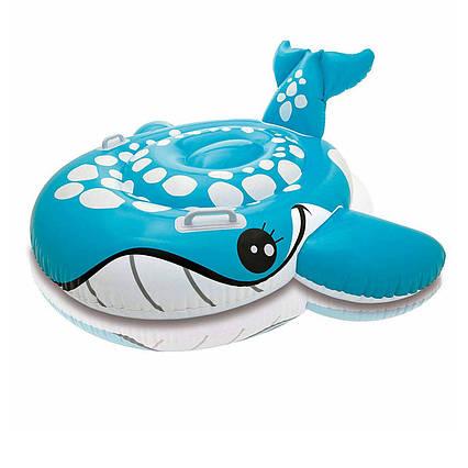 Дитячий надувний пліт для катання Intex 57527 «Синій Кит», 160 х 152 см