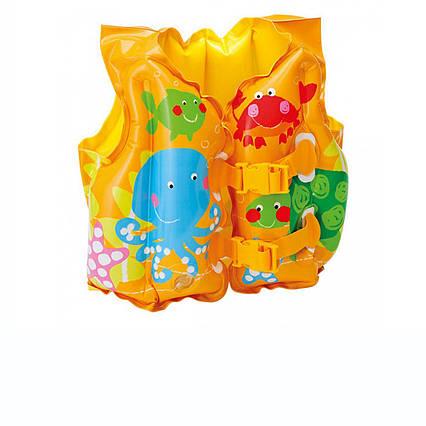 Дитячий надувний жилет Intex 59661 «Рибка», 41 х 30 см