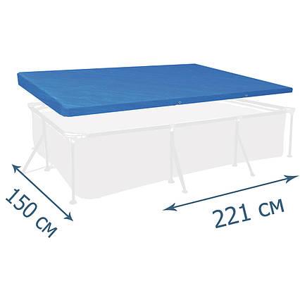 Тент - чохол для каркасного басейну Bestway 58103, 221 х 150 см