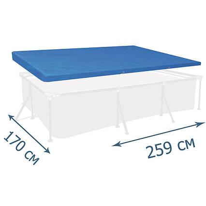 Тент - чохол для каркасного басейну Bestway 58105, 259 х 170 см