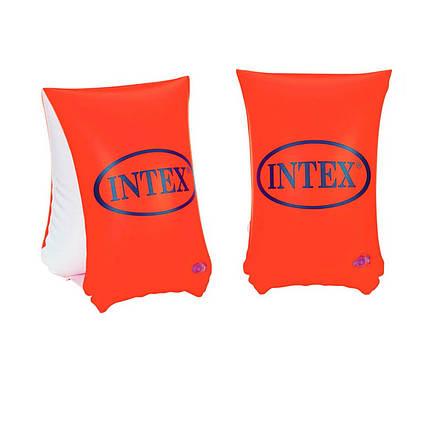 Нарукавники для плавання Intex 58641 «Люкс», серія «Школа плавання», 30 х 15 см