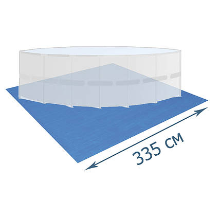 Підстилка для басейну Bestway 58001, 335 х 335 см, квадратна