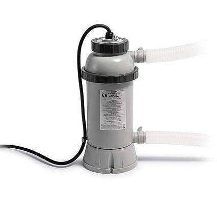Електричний нагрівач для басейнів Intex 28684 . Працює від насоса від 1893 до 9464 л/год