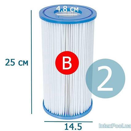 Змінний картридж для фільтр насоса Intex 29005 тип «B» 2 шт, 14.5 х 25 см