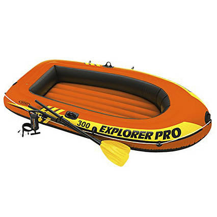 Двомісна Intex надувний човен 58358 Explorer PRO 300 Set, 244 х 117 см, (весла, ручний насос)