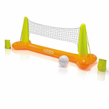 Надувная игра на воде Intex 56508 «Волейбол», оранжевый, 239 х 91 х 64 см