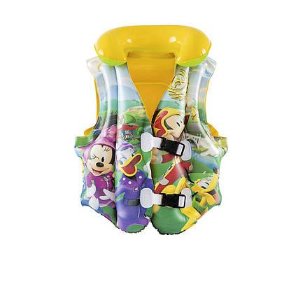 Дитячий надувний жилет Bestway 91030 «Міккі Маус» 51 х 46 см, жовтий