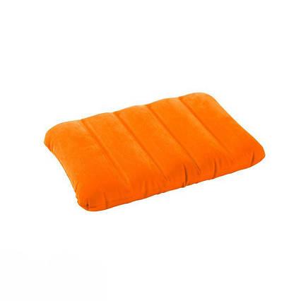 Надувна флокірована подушка Intex 68676, помаранчева
