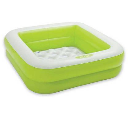 Дитячий надувний басейн Intex 57100, зелений, 85 х 85 х 23 см