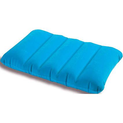 Надувна флокірована подушка Intex 68676, блакитна