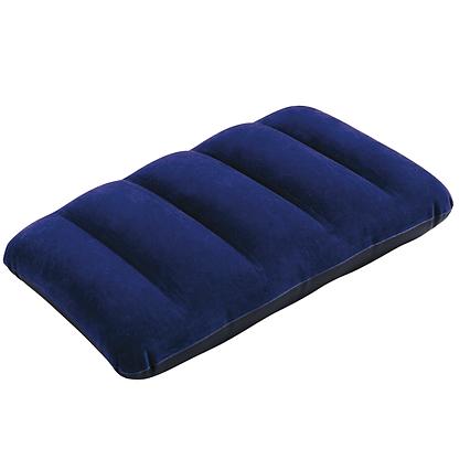 Надувна флокірована подушка Intex 68672 (Bestway 67121), синя