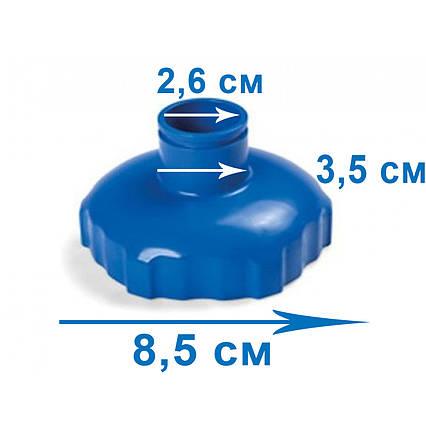 Перехідник адаптер Intex 11447 до набору для догляду 28003 (82 мм \ 32 мм). Сумісний з 11070