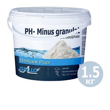 PH - мінус для басейну Grillo 80014. Засіб для зниження рівня pH (Німеччина) 1,5 кг
