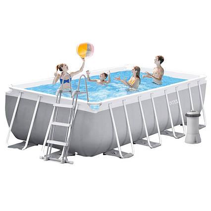 Каркасний басейн Intex 26792, 488 x 244 x 107 см (3 785 л/год, сходи, тент, підстилка)