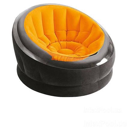 Надувне крісло Intex 68582, 112 х 109 х 69 см, помаранчевий