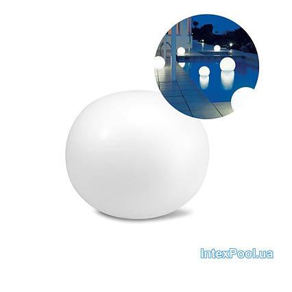 Світлодіодна декоративна підсвітка, ліхтар Intex 68695 «Глобус» надувний, плаваючий, новий. Працює від