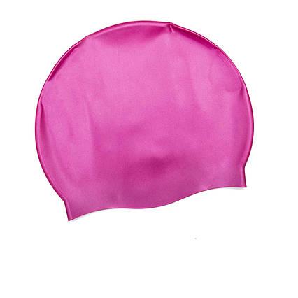 Шапочка для плавання Bestway 26006, універсальна, обхват голови ≈ 56 см, (19 х 22 см), рожева