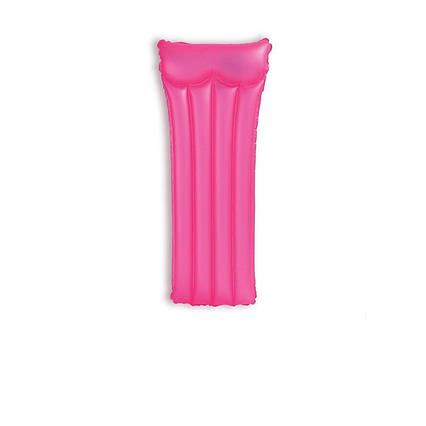 Пляжний надувний матрац з підголовником Intex 59717, 183 х 76 см, рожевий