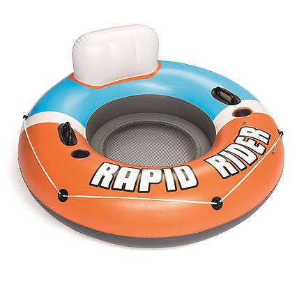 Bestway надувний круг 43116 «Rapid Rider», серія «Sports», 135 см, оранжевий