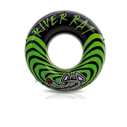 Intex надувний круг 68209 «Річкова щур», чорно-зелений, 122 см
