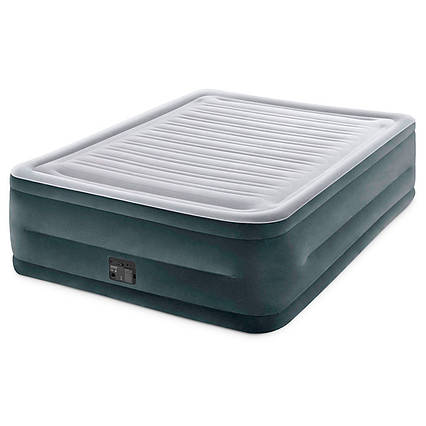 Надувне ліжко Intex 64418, 152 х 203 х 56 см, вбудований електронасос. Двоспальне
