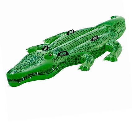 Дитячий надувний пліт для катання Intex 58562 «Крокодил», 203 х 114 см