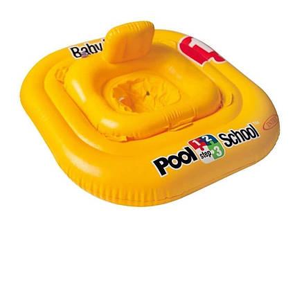 Надувний круг«Pool School», Intex 56587, серія «Школа плавання», з трусиками, 79 х 79 см