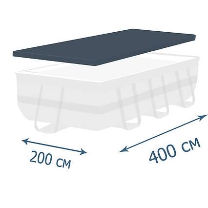 Тент - чохол для каркасного басейну Intex 28037, 400 х 200 см (фактичний розмір тенту 388 х 189 см)