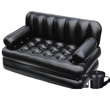 Надувний диван Bestway 75056, 188 х 152 х 64 см, з електричним насосом