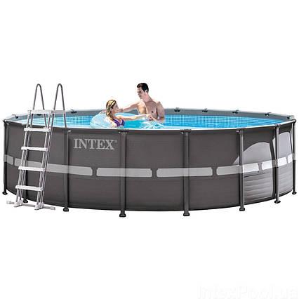 Каркасний басейн Intex 26330 - 1, 549 х 132 см (сходи, тент, підстилка)