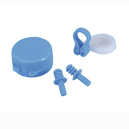 Беруші для вух, кліпса для носа Bestway 26028, універсальні (6+), блакитні