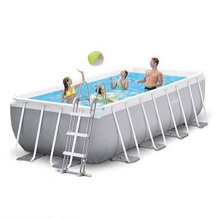 Каркасний басейн Intex 26788 - 1, 400 x 200 x 100 см (сходи)