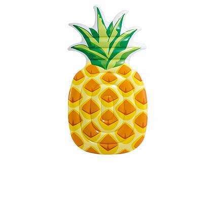 Пляжний надувний матрац Intex 58761 «Ананас», жовтий, 216 х 124 см