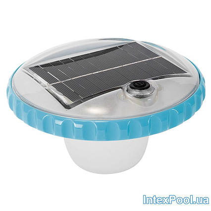 Лампа - поплавок Intex 28695, підсвічування для басейну. Працює від сонячної батареї