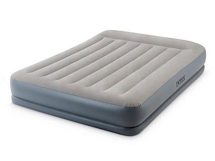 Надувне ліжко Intex 64118, 152 х 203 х 30 см, вбудований електронасос. Двоспальне